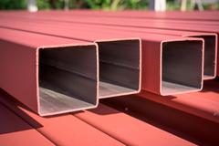 Steel box girder Stock Photos