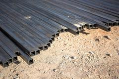 steel box girder - stock photo