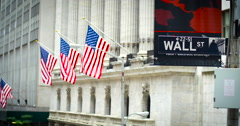 Wall Street / New York Stock Exchange Stock Footage