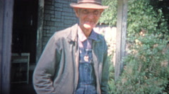 Stock Video Footage of ARKANSAS, USA - 1966: Old time southern poor farmer just getting by.