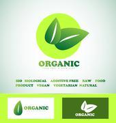 Organic bio food logo Stock Illustration