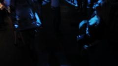 Hot women working at nightclub, people dancing to music in club Stock Footage
