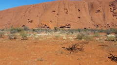 Uluru, Ayers Rock Outback Australian Landmark Red Desert Landscape 4K Stock Footage