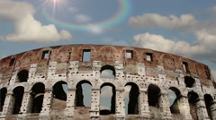 Colosseum in Rome, Italy. Time Lapse. Stock Footage
