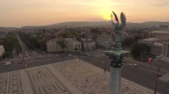 AERIAL Budapest, Hungary, Europe, city Stock Footage