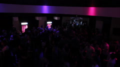 Nightclub culture, guys enjoying good music, strobe light effect - stock footage