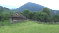 Hutsul region,  kolyba Stock Footage