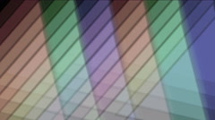 4k triangle tangram mosaic matrix pattern,plastic card paper,fractal geometry d Stock Footage