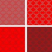 Stock Illustration of Set Abstract seamless pattern for illustrations and textiles