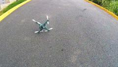 Drone crashes to earth  Stock Footage