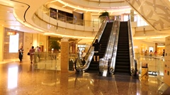 Peopole walking at shopping mall,Shanghai - stock footage