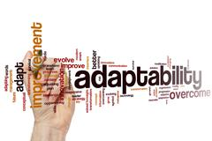 Adaptability word cloud - stock photo