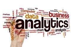 Stock Photo of Analytics word cloud concept