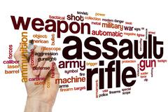 Assault rifle word cloud Stock Photos