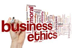 Business ethics word cloud - stock photo