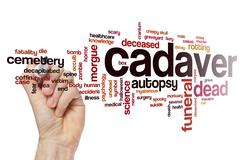 Cadaver word cloud - stock photo
