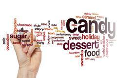 Candy word cloud Stock Photos