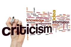 Criticism  word cloud - stock photo