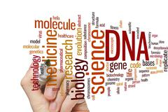 Stock Photo of DNA word cloud