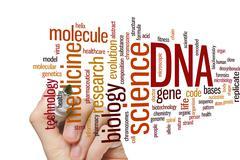 DNA word cloud Stock Photos