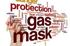 Gas mask word cloud Stock Photos