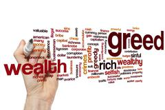 Greed word cloud - stock photo