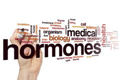 Hormones word cloud Stock Photos