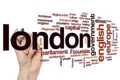 London word cloud Stock Photos