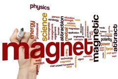 Magnet word cloud Stock Photos