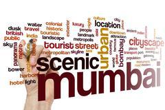 Mumbai word cloud - stock photo