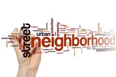 Stock Photo of Neighborhood word cloud