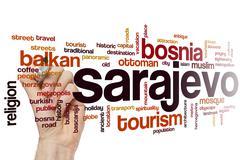 Sarajevo word cloud - stock photo