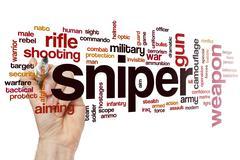 Sniper word cloud - stock photo