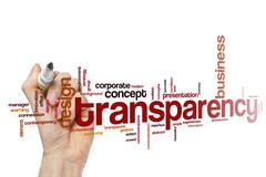 Transparency word cloud - stock photo