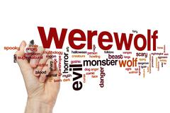 Werewolf word cloud - stock photo