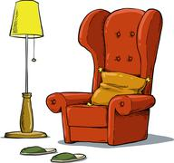 Cozy armchair - stock illustration