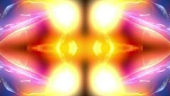Skull Spin Kaleidoscope Stock Footage