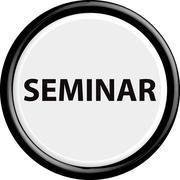 Button seminar - stock illustration