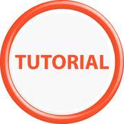 Button tutorial - stock illustration