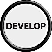 Button develop Stock Illustration
