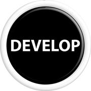 Button develop Stock Illustration