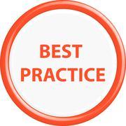 Button best practice - stock illustration