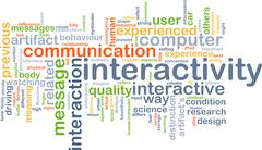 Interactivity background concept - stock illustration