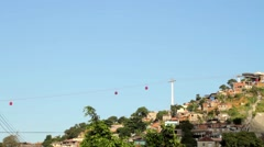 View of favelas in Complexo do Alemao - stock footage