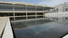 Charles Bronfman Auditorium in Tel Aviv, Israel. Stock Footage