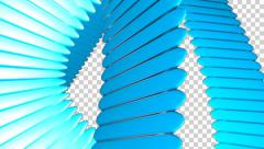 BLUE WAVES  video transition. Stock Footage