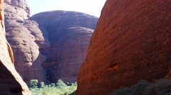 Kata Tjuta The Olgas Australian Landmark Outback Red Desert Landscape 4k Stock Footage