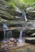 Hidden Falls Hanging Rock State Park North Carolina - stock photo