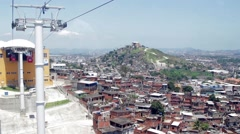 View of favelas in Complexo do Alemao Stock Footage