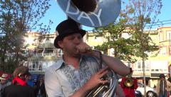 Street Band - Drum & Brass - May Day Social Action - 02 Stock Footage